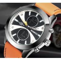 Wholesale Wholesale Fashion Mem Dual time 3 ATM Waterproof Genuine Leather Band Sport Wrist Watch Alarm Chronograph Watch F536 from china suppliers