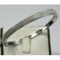Wholesale 18K White Gold with Natural 4 Rows Diamonds Fashion Bracelet KGB000071 from china suppliers