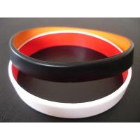Wholesale 2 layers silicone bracelet, Top quality two layers silicone bracelet, Custom made colors from china suppliers