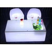 Mobile KTV Decoration LED Light Furniture Colors Changeable With Glass Top