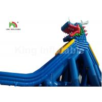 Wholesale Dragon Stype Blue Large Inflatable Water Slide For Adults In Aquatic Park from china suppliers
