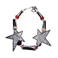 Wholesale Black Gold Plating Personalised Jewellery Cubic Zirconia Star Bracelet from china suppliers