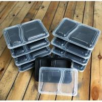 China wholesale factory price microwave clear plastic 2 compartment disposable food container with lids on sale