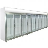 Wholesale Glass Door Compact Refrigerator 0 - 10 Degree Dynamic Cooling For Shop from china suppliers