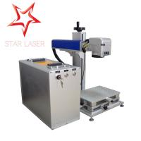 Wholesale Blue 10W Fiber Laser Marking Machine , Pipe Laser Marking Engraving Machine from china suppliers