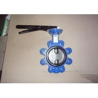 Wholesale Easy Installation BS4504 PN10 / PN16 Flange Standard Cast Iron Lug Butterfly Valve from china suppliers