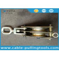 Wholesale Heavy Duty 3T Steel Double Wheel Wire Rope Pulley Block With Swivel Eye from china suppliers