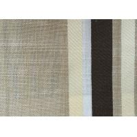 Washable Upholstery Polyester Blend Fabric , Plain Linen Fabric