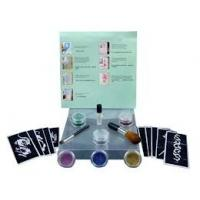 China OEM 6 Colors Temporary Diamond Body Painting Glitter Tattoo Kit on sale