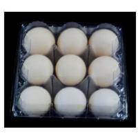 Wholesale 9 Cavities Disposable Egg Cartons , PVCclear Egg Tray 41mm Hole For Supermarket from china suppliers