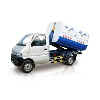 China White Garbage Compactor Truck lifting capacity 1000kg , hooking time ≤30s on sale