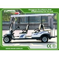 Wholesale White Color 6 Person Electric Patrol Car With Knock - Down Caution Light from china suppliers