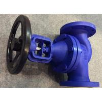 DIN Straight Pattern Flanged Cast Steel Globe Valve Metal Seat PN40 With Dual