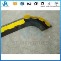 China Dual Channel Truss Parts Way Rrubber Floor Cable Cover Yellow Pvc Cover on sale
