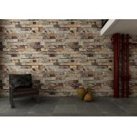 Eco friendly 3d brick effect wallpaper waterproof vinyl for 3d brick wall covering