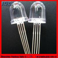 Quality 10mm Bullet Four Legs RGB LED Diodes (HH-10A0CAW878) for sale