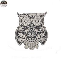 China Practical Embroidered Owl Patch , Fashionable Uniform Owl Sew On Patch on sale