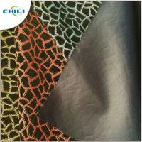 """Wholesale Flocked Glitter Leather Fabric 1.0mm Thickness 54/55"""" Width Abrasion Resistant from china suppliers"""