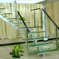 China Flooring Safety PVB Laminated Glass Hollow / Solid Structure Customed Size on sale