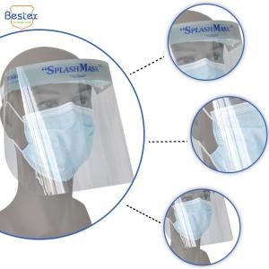 Wholesale Optically clear PU Foam 32*19cm Anti Fog Face Shields from china suppliers