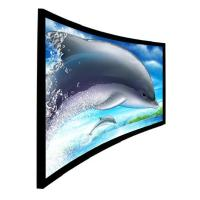 180 or 360 degree Immersive 3D Curved Projection Screen for Home Cinema