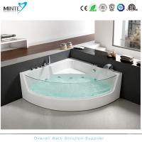 Wholesale Spa Classic Corner Jacuzzi Tub , Corner Whirlpool Tub With Transparent Glass Window from china suppliers