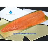 Wholesale Food Grade Paper Board Double Side Oil Proof Golden/Silver Backing Stiffener for Salmon Fish Tray from china suppliers