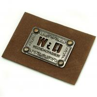 Wholesale Faux Personalized Leather Luggage Tags Metal Logo Multi Purpose For Hats from china suppliers