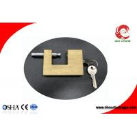 Buy cheap Safety Brass Padlock In Strong Rectangular Lock Body Width 50mm from wholesalers
