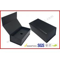China Black High End Embossed Paper Boxes Magnetic E-Cigar Packaging on sale