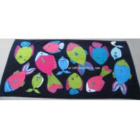 Wholesale 100% cotton printed beach towel , velour , 100x180cm , gsm450 from china suppliers