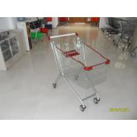 Buy cheap Large Capacity Supermarket Shopping Carts , Wire Shopping Carts With Wheels from wholesalers