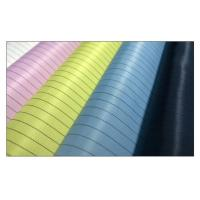 Wholesale 5mm Strip Esd Clothing Material Grid / Streak Cleanroom Fabric Carbon Fiber from china suppliers