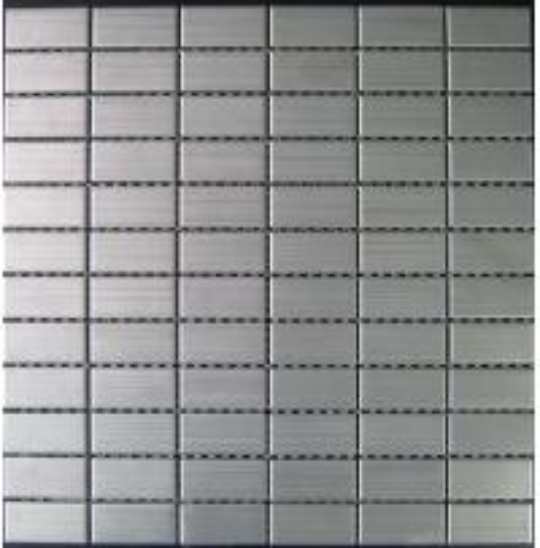 Brushed Stainless Steel Backsplash: Brushed Metal Mosaic Tiles For Backsplash, Kitchen