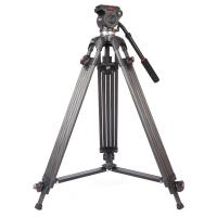 Lightweight Black Camcorder Canon Digital Camera Tripod with Fluid Head Manufactures