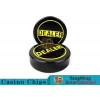 Wholesale Yellow Sculpture Texas Poker Dealer Button For Casino Poker Table Games Use Accessories Grade Acrylic 75mm Dealer Card from china suppliers