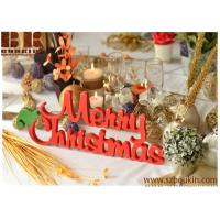 Wholesale Christmas table decoration wood sign Merry Christmas Front door wooden sign red sign from china suppliers