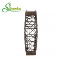 Wholesale LED Tall Rattan Style Solar Lights Floor Lamp For Garden Patio Landscape Decorative from china suppliers