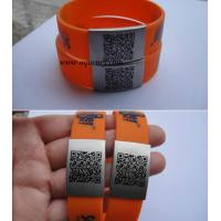 Wholesale Unique QR Code on Stainless Steel Metal QR code ID Plate QR Code Bracelet from china suppliers