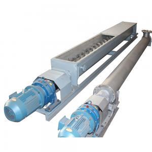 China Mining Coal Dust Auger Tube Screw Conveyor 220V / 380V / 415V Voltage on sale