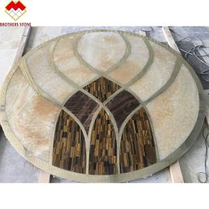 Wholesale Custom Mosaic Floor Water Jet Medallion Natural Wall Decoration Marble from china suppliers