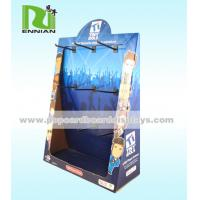 China Peg Hook Corrugated Cardboard Counter Displays Fashion Point Of Sale Display on sale