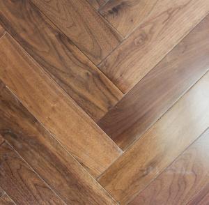 Wholesale Black Walnut Fishbone/Herringbone Engineered Flooring from china suppliers