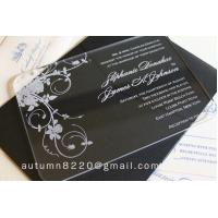Wholesale IC (12) in sales customized acrylic invitation from china suppliers