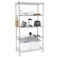 Wholesale H173 Simple Design Metal Display Shelf Carbon Steel Beautifully Silver - Finished from china suppliers
