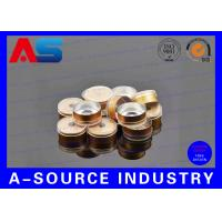 Wholesale Gold Aluminum Color 20 # Flip Off Vial Caps Blue / Red / White / Black Eco Friendly from china suppliers