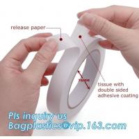 Industrial Strong Scotch Tape Label Double Sided With Carrier Tissue Or Foam