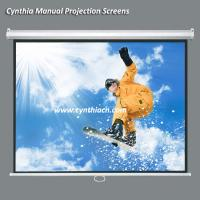 Wholesale Cynthia Wall Mount Manual Self Lock Projector Screen from china suppliers