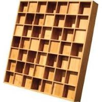 Wholesale Qrd Wood Wall Ppaneling / Acoustic Diffuser Panels Square Edge Treatment from china suppliers