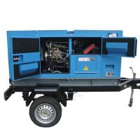 China Cummins  Diesel Engine Driven Generator , Silent Trailer Mobile Generator Set on sale